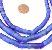 Antique Old Russian Blue Faceted Antique Glass Trade Beads-collectible-ghana