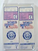 1984 World Series Game A And C Ticket Stubs Detroit Tigers 2 Of Each