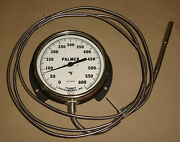 Palmer 6 Dial Thermometer 0-600 Degrees Temperature Gauge Wall Mount New