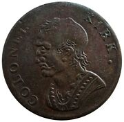 1796 Great Britain North Wales Evastion 1/2 Penny Colonel Kirk And Harp Token