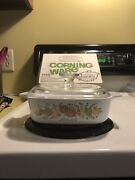 Nib Vintage Corning Ware W/ Lid 1 Qt Spice Of Life Land039echalote A-1-b New In Box