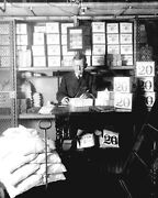 Vintage Treasury Department Official Counting Newly Minted Bills-1907 Photo