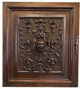 Antique French Carved Cabinet Door, Neoclassical Figural, 26 For Bar Or Wall