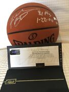 Kobe Bryant Hand Print Autographed Basketball 81pts 11/81 Limited Edition Andnbsp