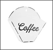 Auldhome Enamelware Coffee Filter Holder Wall-mount Vintage Farmhouse Style