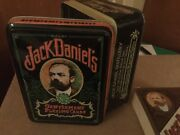 Vintage Jack Daniels Unwrapped Playing Cards And Hinged Tin Box.