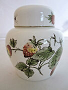 Coalport Strawberry And Butterfly Ginger Jar Small 4.5 Tall England Rare