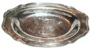 Reed And Barton Silverplate Silver Plate 1902 Hampton Court Oval Scalloped Tray