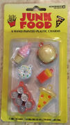 Vintage 2003 Accoutrements Hand-painted Plastic Charms Junk Food Nip
