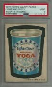 1974 Topps Wacky Packages Light And Dizzy Yoga 5th Series Psa 9 Mint Card