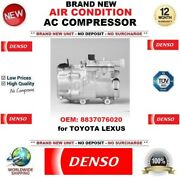 Denso Air Conditioning Ac Compressor Oem 8837076020 For Toyota Lexus Brand New