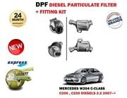 For Mercedes C Class C200 C220 Cdi W204 2007 Dpf Diesel Particulate Soot Filter