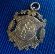 Attractive 9ct Rose Gold Fob Medal / Pendant - Bowling Bowls 1924 Not Engraved