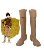 Black Clover Kingdom Golden Dawn Magic Knight Yuno Cosplay Boots Brown Shoes