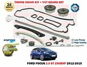For Ford Focus 2.0 St 250bhp 2012-2015 Timing Cam Chain Kit With Vvt Gears Set