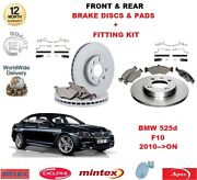 For Bmw 525d F10 2010 On Front And Rear Brake Pads Discs And Fitting Kit