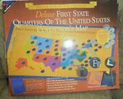 48 Quarters In Two State Quarters Of The Usa Collector Maps In Original Box