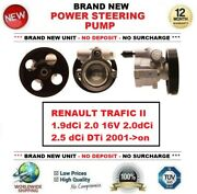 New Power Steering Pump For Renault Trafic Ii 1.9 2.0 16v 2.5 Dci Dti 2001-on