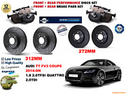 For Audi Tt Coupe 2014-on Front And Rear Performance Brake Discs Set + Pads Kit