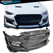 Fits 18-21 Ford Mustang Gt500 Style Front Bumper Cover Conversion - Pp