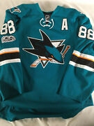 Brent Burns Authentic Game Used Jersey San Jose Sharks Nhl. Norris Trophy Season
