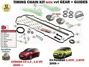 For Citroen C3 + Picasso 1.4 1.6 Vti 2009- Timing Chain Kit With Vvt Gears