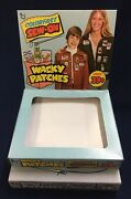 1974 Topps Wacky Packages Colorfast Sew-on Patches Original Empty Display Box