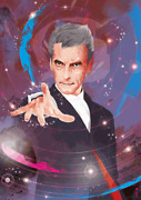 The Doctor Is In Peter Capaldi Limited Edition Rare Giclee Print