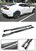 For 16-up Chevy Camaro T6 Style Side Skirts Rocker Panels Abs Plastic 6th Gen