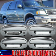 1997-2002 Ford Expedition 01-03 F150 Crew Chrome 4 Door Handle Covers W/kp No Pk