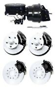 Wilwood Black Front And Rear Disc Brake 2 Drop Kit W/ Booster Master Cylinder