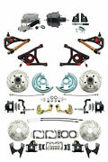 A F X Body Gm Black D/s Disc Brake Kit W/ Control Arms And Black Booster