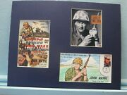 John Wayne In Sands Of Iwo Jima And First Day Cover Of His Own Stamp