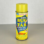 Vintage Turtle Wax Bug And Tar And Tree Sap Remover Spray Can 1980 Advertising