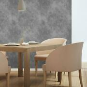 White And Grey Faux Marble Texture Fabric Removable Wallpaper 0756