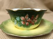 Jean Pouyat Jp Limoges Beautiful Hand Painted Mayo Nut Candy Open Sugar Signed