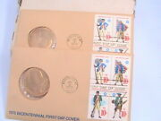 Medal Two July 4 1975 Bicentennial First Day Cover Stamp Wash. Dc Envelopes