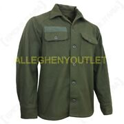 Us Military Wool Field Shirt Cold Weather Winter Hunting Od Green Small New