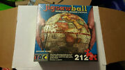 Nib Jigsaw Ball 3d Antique Globe 9 Spherical Jigsaw 212 Pc. Puzzle With Stand