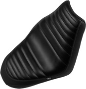 Mustang Black Tuck N Roll Carbon Fiber Motorcycle Solo Seat 15-19 Indian Scout