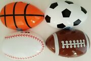 Happy Easter Sports-ball X-large Plastic Fillable Eggs 1/pk Select Type