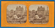 Tissue Stereoview Photo Utopia Model Maquette Arc Nation Paris France Stereo 62