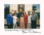 William J. Bill Clinton - Autographed Inscribed Photograph With Co-signers