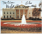 William J. Bill Clinton - Autographed Signed Photograph With Co-signers