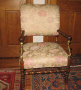 1930s Vintage Chair With Brass Inserts