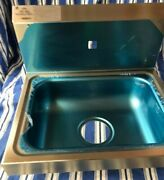 Hand Wash Sink Stainless Steel With Automatic Faucet Touch Free New In Box