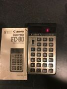Canon Fc-80 Ultra Rare Conversion Vintage Calculator Works Perfectly W/manual