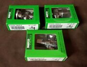 3 Matco Norca 1/4 Turn Angle Ball Stop Valves 1/2 Fip Inlet X 3/8 Comp Outlet