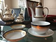 Rare Vintage Winterling 64pc Place Setting - Cobalt And Gold Germany Bavaria China