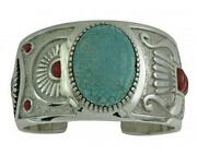 Michael Perry Bracelet Number Eight Turquoise Mediterranean Coral Navajo 6
